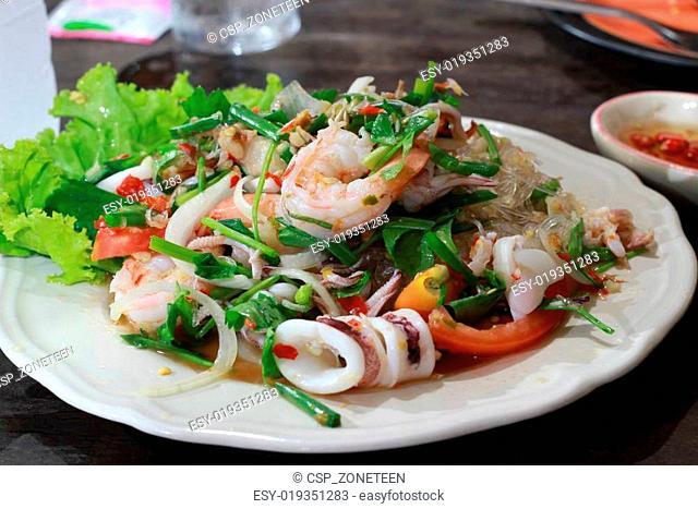seafood marinated salad