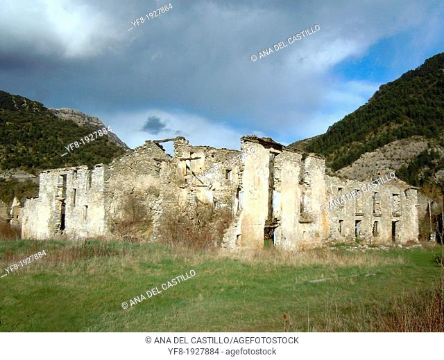 Janovas an abandoned village in Huesca Aragon Spain