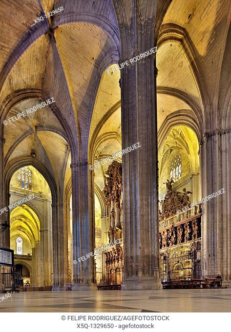 Interior of Santa Maria de la Sede Cathedral, Seville, Spain