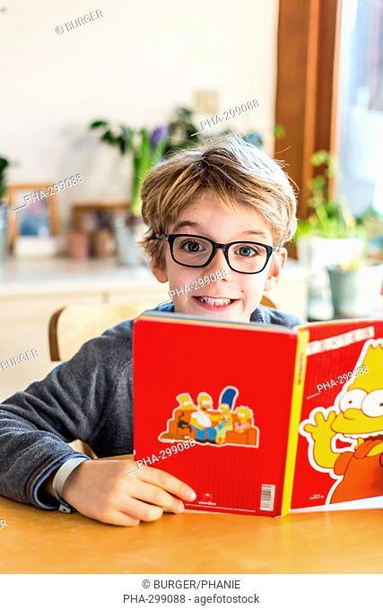 8 year old boy reading