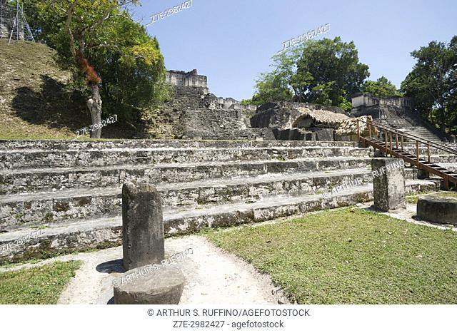 Grand Plaza, North Acropolis, Tikal, Guatemala, Central America