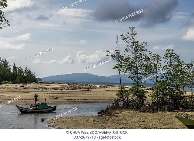 Camp Pueh Beach, Sematan, Sarawak, Malaysia
