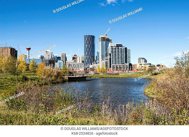 Bow River and skyline of Calgary, Alberta, Canada