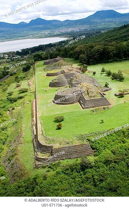 Yacatas Pyramid Tzintzuntzan Michoacan Mexico