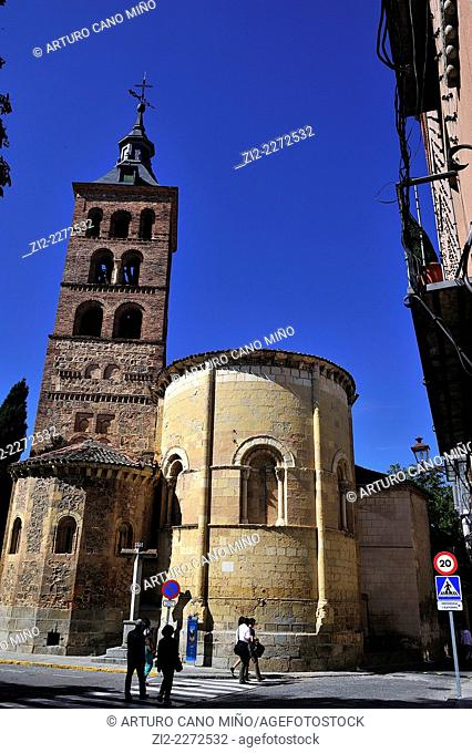 St. Andrew romanesque church, XIIth century. Segovia, Spain
