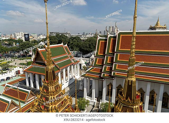Wat Ratchanatdaram buddhist temple complex, Bangkok, Thailand, Asia