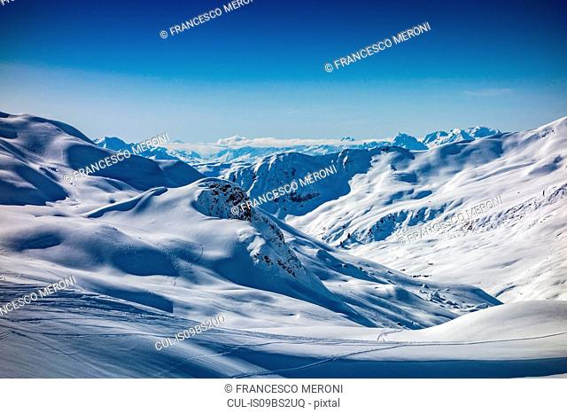 Snow covered Alps, Davos Platz, Graubunden, Switzerland