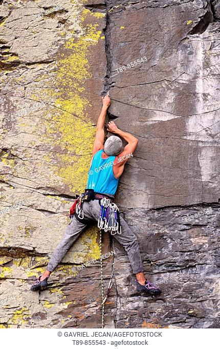 Smith Rock State Park. Rock climbing