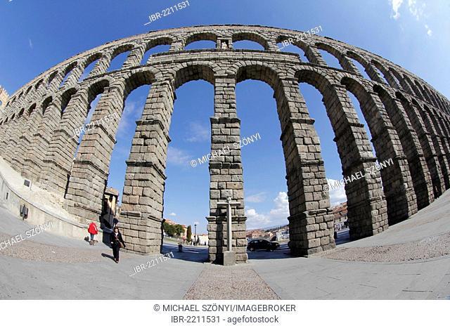 The Roman Aqueduct of Segovia, Segovia, Castile and León, Spain, Europe