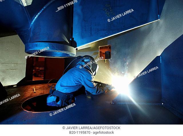 Welding, boilermaking, Gipuzkoa, Euskadi, Spain