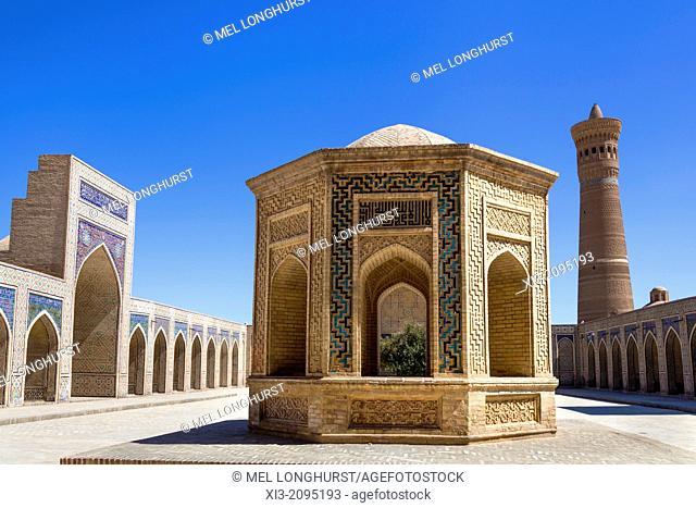 Building in courtyard of Kalon Mosque, also known as Kalyan Mosque, and Kalon Minaret, Bukhara, Uzbekistan