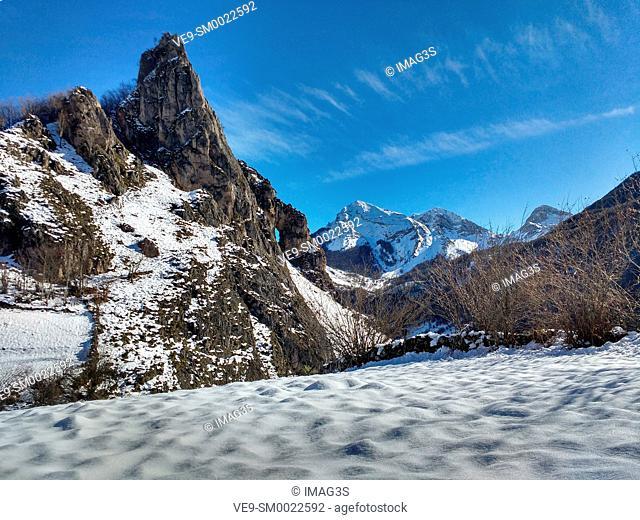 Peña El Castiechu near Valle de Lago, Somiedo Natural Park and Biosphere Rserve, Asturias, Spain