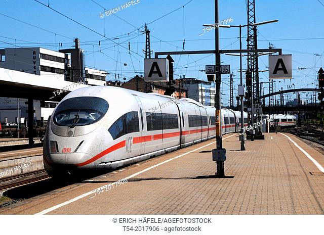 ICE high speed train station in Würzburg