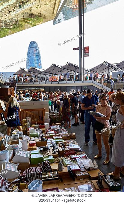 Encants Market, Agbar Tower, Plaça de les Glòries, Barcelona, Catalunya, Spain, Europe