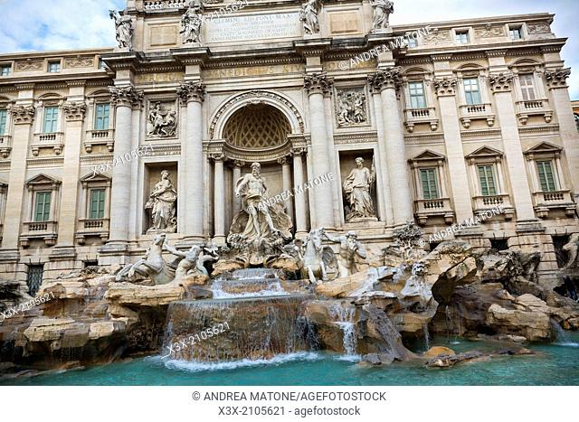 The Trevi fountain. Rome, Italy