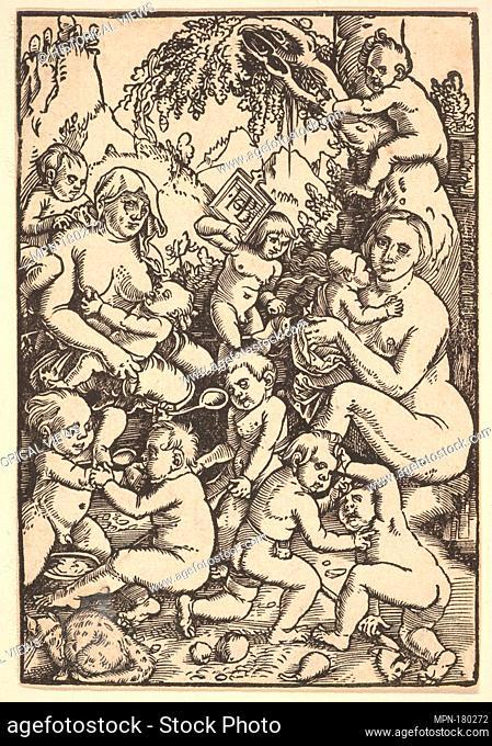 Two Mothers with Children (Die Kinderaue). Artist: Hans Baldung (called Hans Baldung Grien) (German, Schwäbisch Gmünd (?) 1484/85-1545 Strasbourg (Strassburg));...