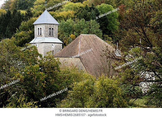 France, Doubs, Alaise, village, church