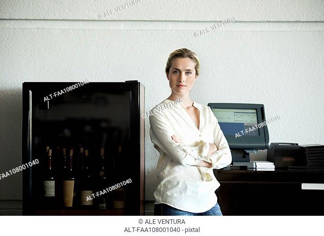 Restaurant owner, portrait