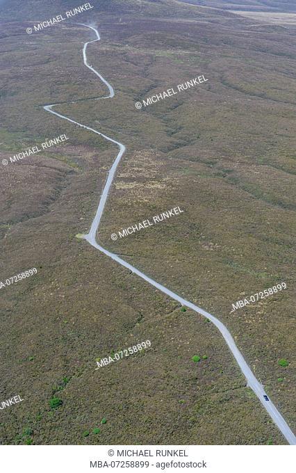 Aerial Tongariro National Park, North Island, New Zealand