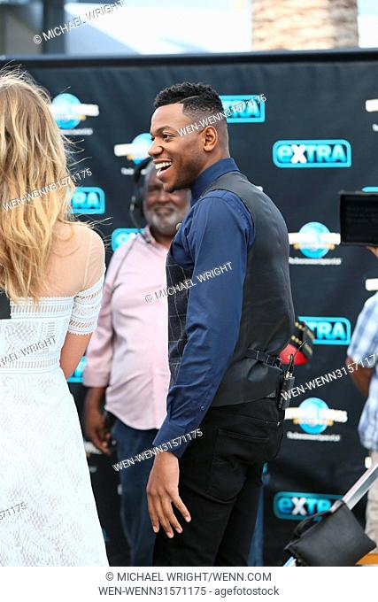 Chris Blue seen at Universal Studios where he was interviewed by Mario Lopez and Tracy Edmonds for television show Extra Featuring: Chris Blue Where: Los...