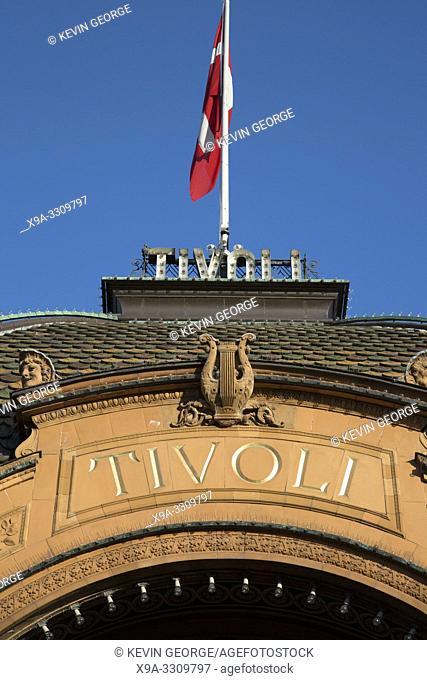 Tivoli Theme Park Entrance Sign, Copenhagen; Denmark