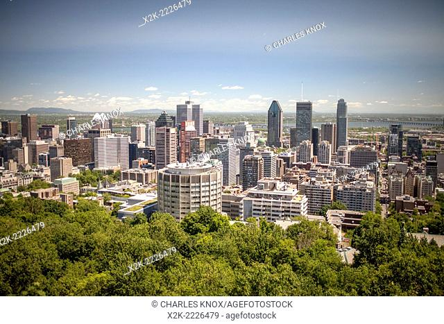 Montreal cityscape during summer, Montreal, Quebec, Canada