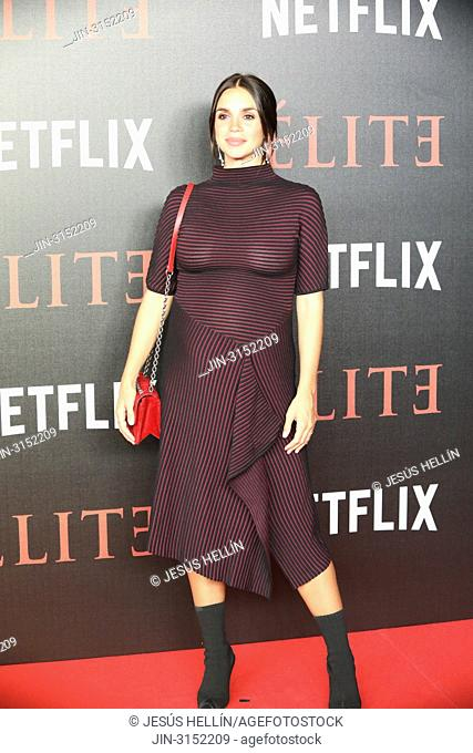 Actress ELENA FURIASE attends 'Elite' premiere at Reina Sofia Museum.Premiere of the Élite series, which premieres Netflix -it is its second Spanish original...
