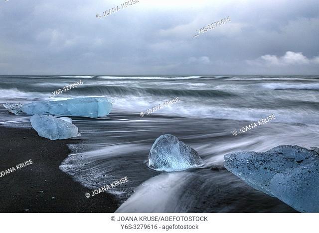 Jokulsarlon, Diamond Beach, Austurland, Iceland, Europe