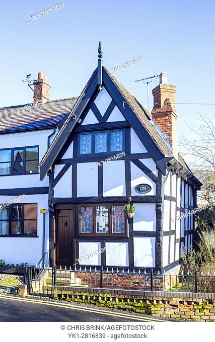 The grade II listed Old Tudor Cottage in Sandbach Cheshire UK