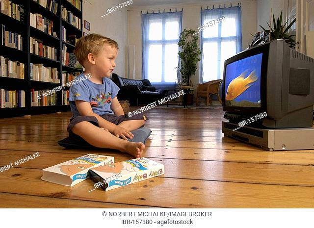 Child watching a video