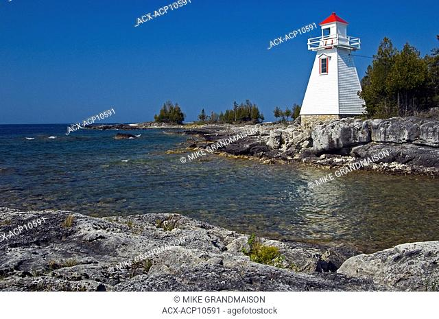 Lighthouse on Manitoulin Island, world's largest freshwater island, South Baymouth, Ontario, Canada