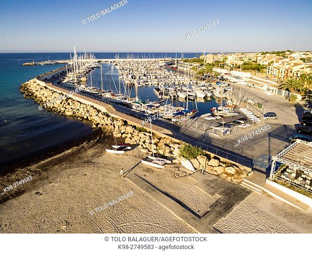 Club Nautico Sa Rapita, Campos, Majorca, Balearic Islands, Spain
