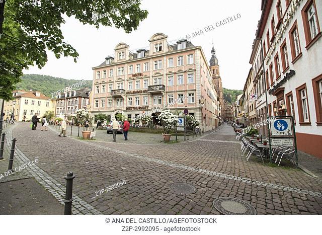 Cityscape in Heidelberg Baden Wurttemberg Germany