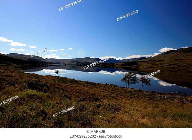 Small Tarn close to Rannoch Moor in the Scottish Highlands