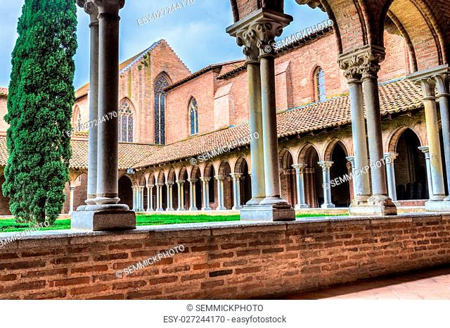 Abbey insde Eglise des Jacobins or Church of the Jacobins in Toulouse