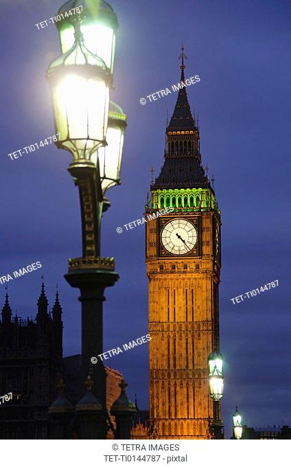 United Kingdom, London, Big Ben at night