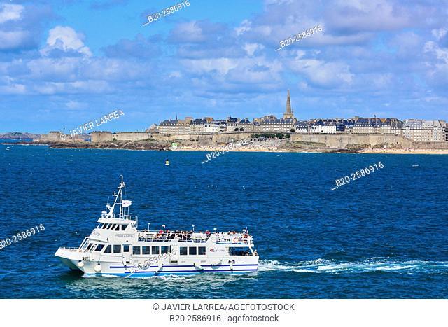 Saint Malo, Emerald Coast, Côtes d'Armor, Brittany, Bretagne, France