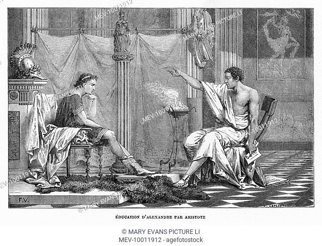 ARISTOTLE Greek philosopher; tutoring Alexander the Great