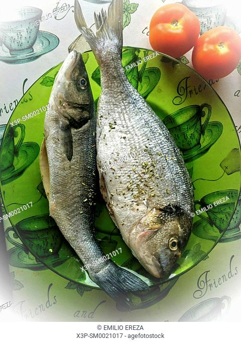 Bass and gilthead for BBQ