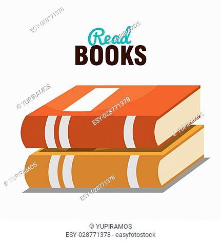read books design, vector illustration eps10 graphic