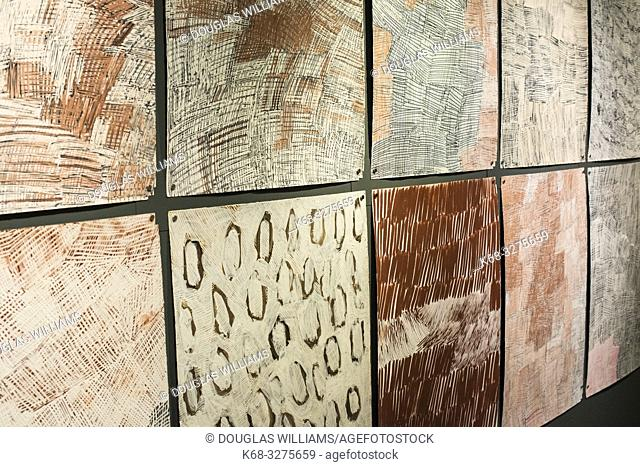 Djorra, 2014-2015 by artist Nyapanyapa Yunupingu, at Marking the Infinite, Contemporary Women Artists from Aboriginal Australia