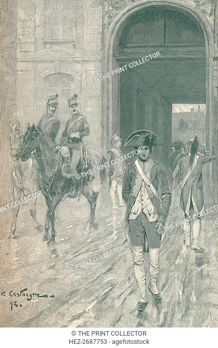 'Bonaparte at the Military School, Paris, 1784', (1896). Artist: M Haider