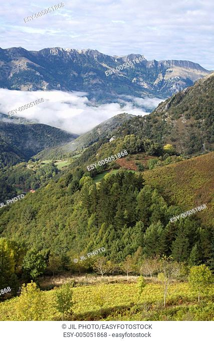 Aralar range seen from the pass of Azpiroz Navarre Basque Country Spain
