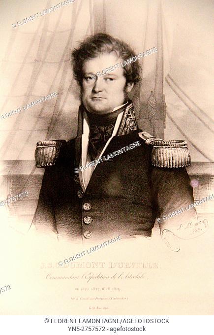 Portrait of Jules DURMONT D'URVILLE (1790-1842), french sailor and explorer
