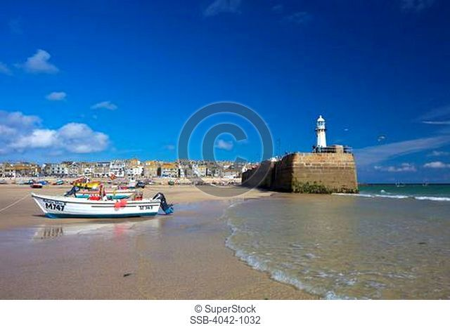 Boats on the beach, St. Ives, British Isles, Cornwall, England