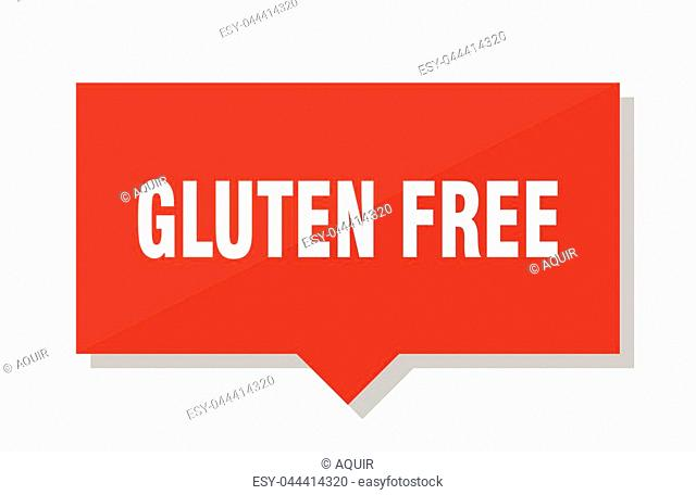 gluten free red square price tag