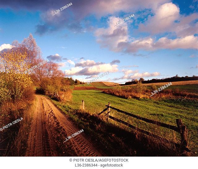 Autumn in Eastern Poland. Podlasie region
