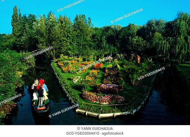FLOATING GARDENS, AMIENS, SOMME, PICARDY, FRANCE