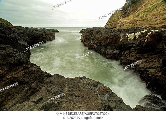 Rugged coastline of the Oregon coast in the Pacific Northwest