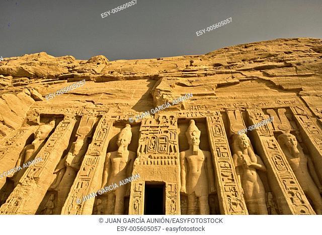 Temple of Queen Nefertari in Abu Simbel, Egypt